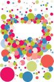 Blocco per grafici della bolla dei coriandoli Immagine Stock Libera da Diritti