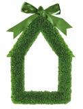 Blocco per grafici della casa dell'erba verde Fotografia Stock Libera da Diritti