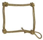 Blocco per grafici della corda con i nodi Fotografie Stock