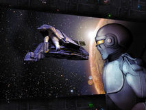 Blocco per grafici della fantascienza Fotografia Stock