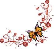 Blocco per grafici della farfalla Immagine Stock