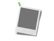 Blocco per grafici della foto del Polaroid con il perno Immagini Stock Libere da Diritti