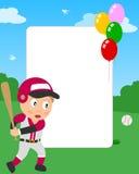 Blocco per grafici della foto del ragazzo di baseball royalty illustrazione gratis