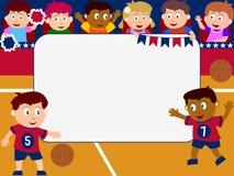 Blocco per grafici della foto - pallacanestro Fotografia Stock