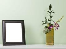 Blocco per grafici della foto sulla tabella Fotografie Stock