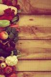 Blocco per grafici della frutta e del rendimento di autunno Fotografia Stock Libera da Diritti