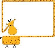 Blocco per grafici della giraffa illustrazione vettoriale