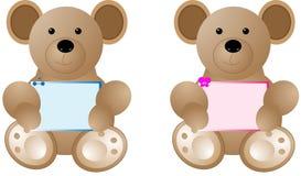 Blocco per grafici della holding dell'orso Immagini Stock Libere da Diritti