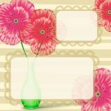 Blocco per grafici della lettera di amore con i fiori Immagini Stock Libere da Diritti