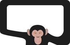 Blocco per grafici della scimmia illustrazione di stock