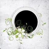 Blocco per grafici della sorgente con i fiori della ciliegia royalty illustrazione gratis