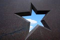 Blocco per grafici della stella del granito Immagine Stock Libera da Diritti