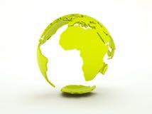 Blocco per grafici della terra verde Fotografie Stock