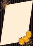 Blocco per grafici della zucca di Halloween Spiderweb Fotografia Stock Libera da Diritti