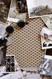 Blocco per grafici delle foto dell'annata Immagini Stock