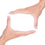 Blocco per grafici delle mani Fotografie Stock
