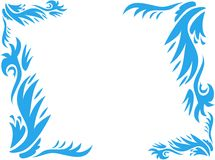 Blocco per grafici delle piante blu stampate in neretto Fotografia Stock Libera da Diritti