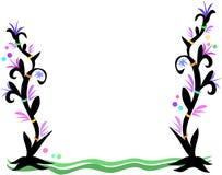 Blocco per grafici delle piante, degli anelli e delle bolle di stile del tatuaggio Fotografia Stock