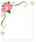 Blocco per grafici delle rose royalty illustrazione gratis