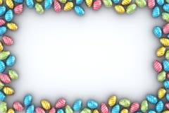 Blocco per grafici delle uova di Pasqua Fotografia Stock Libera da Diritti