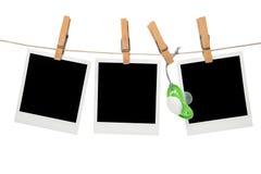 Blocco per grafici dello spazio in bianco della polaroid del bambino Immagini Stock Libere da Diritti