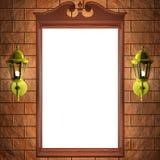 Blocco per grafici dello specchio sulla parete Fotografia Stock