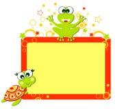 Blocco per grafici di aligator e della tartaruga Fotografia Stock Libera da Diritti