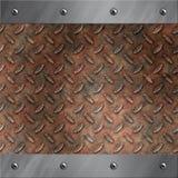 Blocco per grafici di alluminio e metallo arrugginito del diamante Fotografia Stock Libera da Diritti