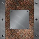 Blocco per grafici di alluminio e metallo arrugginito del diamante Immagini Stock