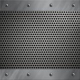 Blocco per grafici di alluminio e metallo perforato Immagine Stock Libera da Diritti