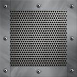 Blocco per grafici di alluminio e metallo perforato Fotografia Stock
