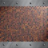 Blocco per grafici di alluminio e metallo perforato con lava Fotografie Stock