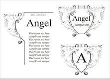 Blocco per grafici di angelo illustrazione vettoriale