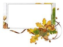 Blocco per grafici di autunno con le ghiande Fotografia Stock Libera da Diritti