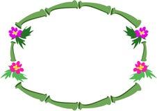 Blocco per grafici di bambù e dei fiori tropicali Immagine Stock