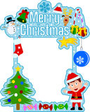 Blocco per grafici di Buon Natale [ragazzo] Fotografia Stock