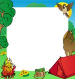 Blocco per grafici di campeggio di estate Illustrazione di Stock