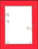 Blocco per grafici di Candycane su colore rosso Fotografie Stock Libere da Diritti