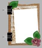 Blocco per grafici di carta con il fiore Fotografia Stock Libera da Diritti