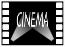 Blocco per grafici di film del cinematografo con l'asta cilindrica di indicatore luminoso Fotografia Stock Libera da Diritti