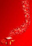 Blocco per grafici di giorno dei biglietti di S. Valentino royalty illustrazione gratis