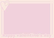 Blocco per grafici di giorno del biglietto di S. Valentino Fotografie Stock Libere da Diritti