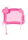 Blocco per grafici di giorno del biglietto di S. Valentino di fascino Fotografia Stock