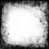 Blocco per grafici di Grunge con i fiori illustrazione di stock