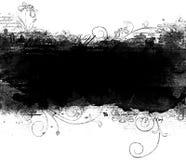 Blocco per grafici di Grunge con i fiori royalty illustrazione gratis