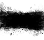 Blocco per grafici di Grunge con i fiori illustrazione vettoriale