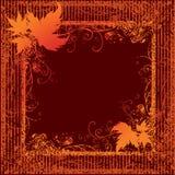 Blocco per grafici di Grunge con i fogli di autunno. Ringraziamento Fotografie Stock