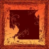 Blocco per grafici di Grunge con i fogli di autunno. Ringraziamento Immagini Stock Libere da Diritti