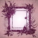Blocco per grafici di Grunge con i fogli di autunno. Ringraziamento Immagine Stock Libera da Diritti