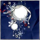 Blocco per grafici di inverno con i fiocchi di neve illustrazione vettoriale